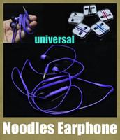 Wholesale Noodle Earphone headphone mm Jack Super Bass Sound Metal Headphone Earbuds For Samsung HTC iPhone MP3 MP4 Player xixoami redmi EAR019