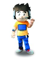 Wholesale Factory Outlets new arrive strange computer boy Halloween Fancy Dress Cartoon Adult Animal Mascot Costume
