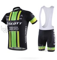 Wholesale 2016 Scott Cycling Jerseys Set Brand Designer Summer Breathable Short Sleeve Bib Cycle Clothes Soft Comfortable Bike Bicycle Clothing