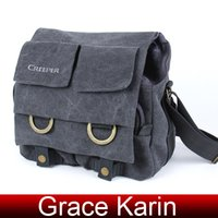 Wholesale Grace Karin New Fashion High Quality Padded Cotton Canvas Photography Camera SLR Bag Shoulder Bag BG791