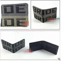 Wholesale 50pcs CCA3085 High Quality New Arrival Leather Wallets BRIDE Wallet JDM Seat Gradation Purse Carbon Racing Black Creative Clutch Wallets