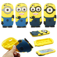 minions case - 3D Cute Cartoon Despicable Me Minion Soft Silicone Case for iPhone Plus s s Smile Big Eye More Minions Skin