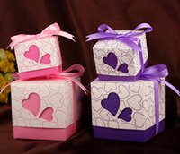 party favor boxes - Purple Sweetheart Wedding Favor Holders Party Supplies Round Paper Gift Candy Favours Favor Boxes New Arrival