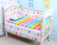 Wholesale 7 Sets Baby Bedding Set Cotton Curtain Crib Bumper Baby Cot Sets Baby Bed Bumper