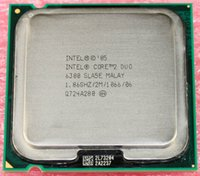 al por mayor duo de intel-Envío gratis original procesador Intel Core 2 Duo E6300 Dual Core a 1,86 GHz Caché L2 2M / FSB 1066 / LGA775 / 65nm / 65W 64-bit CPU de la computadora