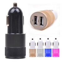 car charger - New Metal Alloy Shell A A A port USB Universal Car Charger for Phone iphone6 s iPod Ipad Samsung
