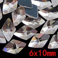 faceted glass stones - High Quality Faceted Shape Crystal Stones Glass Flatback Stones For Jewelry Makings Diy Diamante