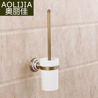 ceramic tile - European antique porcelain toilet bathroom shelf bathroom toilet brush drawing package