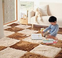 Wholesale DIY Design Spliced Carpet Mat Soft Shaggy Non slip Rugs The Sitting Room The Bedroom Carpet Mat
