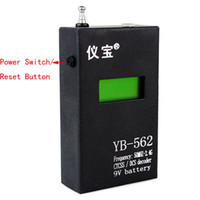 Wholesale Black YB Portable Hand held LCD Display CTCSS DCS Decoder Frequency Counter J2002A for Two Way Radio MHz GHz