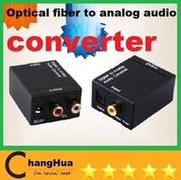 Wholesale Digital Optical Coaxial Toslink to Analog RCA L R Audio Converter V310