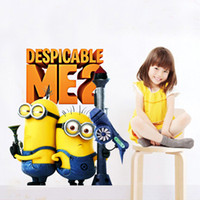 Wholesale removable wall stickers for kids rooms living room decoration minions wall decals Despicable Me