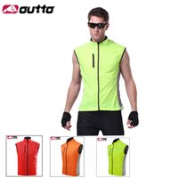 Wholesale 2015 OUTTO Mens Ultralight Quick Dry Cycling Vests Reflective Cycling Vest Windproof MTB Bike Vest Breathable Sleeveless Jacket