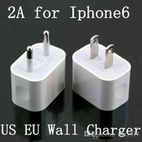 Wholesale new Portable V A EU US Plug Travel USB Wall Charger Home Adapter for iPhone Plus Ipad S S Samsung Galaxy S3 S4 S5 S5 S6 Edge HTC M8 M9