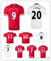 manchester - Thailand Quality Manchester Home Away Soccer Uniform Football Jerseys Rooney V Persie Falcao Di Maria Januzaj Mata