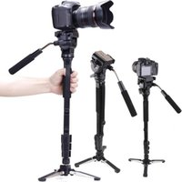 Wholesale Yunteng C288 Pro Monopod Fluid Pan Head Ball DV Unipod Mobile Phone Clip Holder For Canon Nikon DSLR Camera VCT