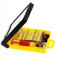 Wholesale 32 in set Micro Pocket Precision Screwdriver Kit Magnetic Screwdriver cell phone tool repair box