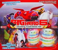 beyblade flashlight - 2015 Brand New Flashlight Music Gyro Baymax Modeling Beyblade Kids Toys LED Toys Per Pack