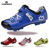 Deportes mayor-SIDEBIKE Profesional Hombres Mujeres transpirable al aire libre para bicicleta Ciclismo Zapatos MTB Mountain Bike Racing Athletic Shoes