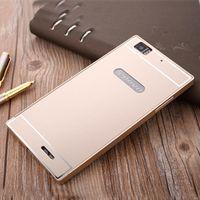 Cheap For Lenovo K900 K3 Note S90 Vibe X2 Aluminum Metal Frame Bumper Acrylic PC Back Mobile Phone Cover Case