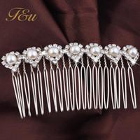 Wholesale H054 Fashion Women s Silver Pearl Hair Comb Clip Cuff Tassel Head Headpiece Boho