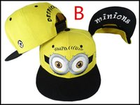 Wholesale Despicable Me Hat Minions Plush Hats Jorge Dave Stewart Cosplay Cap Despicable Plush Hat Christmas Gift snapback hats caps J120906 DHL