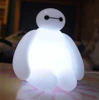 Wholesale 2015 BayMax USB LED Bulbs Light with remote control cute carton led night lighting Big Hero Breathing lamp children Kids gifts floodlight