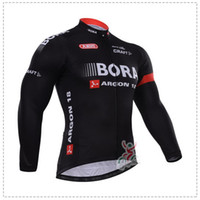 Wholesale SPRING BORA ARGON TEAM BLACK B100 ONLY LONG SLEEVE CYCLING JERSEY SIZE XS XL