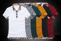 100% cotton men dress shirts - Fashion New Men s Summer Fashion Plaid Brand Short T Shirts Embroidered Logo Camisetas Tops Cotton Casual Dress Shirts
