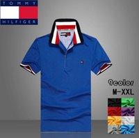 tommy shirt - Fashion Shirts Men s tommy polo shirt Tees Top Good quality Cotton Polo shirts Short sleeved polo shirt too1