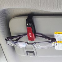 Wholesale Car glasses clip multifunctional car eyeglasses frame bank card holder paper clip sun shading stoopable auto supplies
