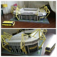 Wholesale Shipping supplies souvenirs of Dortmund football fans Yiduna Park Stadium model coated paper