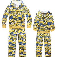 Wholesale hot baby minions clothes kid minions hoodies coat pants trousers despicable me pants trousers jacket outwear minions outfits