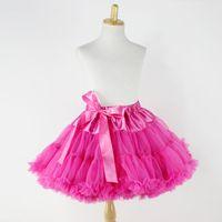 baby ballet outfits - Super Fluffy Chiffon Ballet Tutu Skirt Cheap Pettiskirt Baby Girls First Birthday Outfit Super Soft Girl Skirt