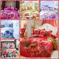 big printing machine - Unique D Big Floral Printing Cotton Bedding Sets Queen Size Bedclothes Duvet Cover Sheet Comforter Bed Spreads Homm Textiles