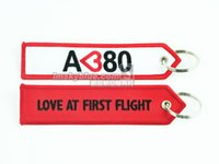 aviation jewelry - Fashion Jewelry Key Chains Airbus A380 Keychain White amp Red Key Chain Ring Personality Gift for Aviation Lover Flight Crew Pilot