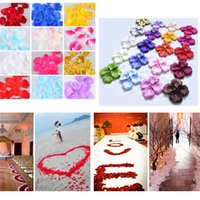 Wholesale Decorative Artificial Silk Flower Rose Petals Wedding Decoration Colors For Choose
