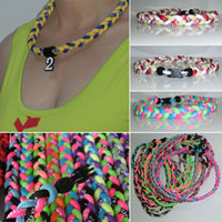 baseball energy necklace - New Baseball Sports Titanium triple braided energy balance team sports necklaces