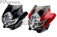 Wholesale PAZOMA MOTORCYCLE HEADLIGHT OFF ROAD CLASS BIKE UNIVERSAL VISION HEADLIGHT ZEPHRYx ZRX ZRX MOTORCYCLE HEAD LAMP