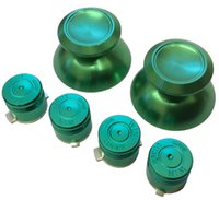 Wholesale PS4 Aluminium Green Thumbsticks Bullet Buttons Set For Playstation Controller