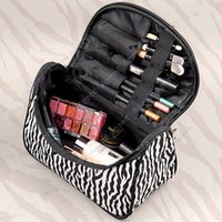 Wholesale Lady Cosmetic Nail Art Tool Bag Makeup Case Toiletry Holder Storage organizer Zebra SV005497