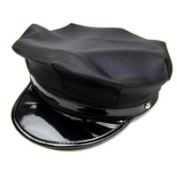 Wholesale Octagon Yacht Skipper Captain Sailor Boat Police Sheriff Hat Cap Party Costume PY