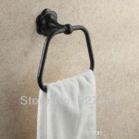 bathroom towel ring bronze - Wall Mounted Oil Rubbed Bronze Bathroom Towel Ring Square Shape Bath Towel Holder rack