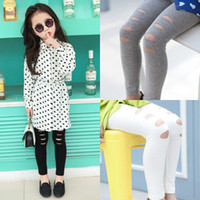 Wholesale 2016 newest baby girls summer hollow out leggings kids casual pencil pants children s fashion leggings colors