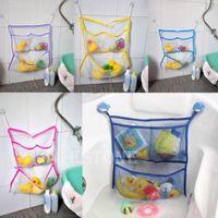 bag on track - New Home Bathroom Suction Net Bag Bath Baby Kid Storage Tidy Toy Organizer order lt no track