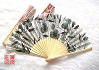 Wholesale Gift small household products mixed batch Sandalwood fan high grade Watercolor painting wooden folding fan