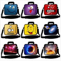 Wholesale Universal carton notebook laptop sleeve laptop bag handbag with hidden handle and shoulder