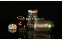 Wholesale Wholesales Metal silver Led Lighted Mason Jar Lid Silver Solar powered Mason Jar Lid DHL Fedex