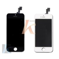 Cheap Black and white Glass Touch Screen Digitizers & LCD Assembly Replacement For iPhone 5 5g & Free shipping