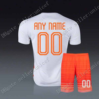 Wholesale customized holland new away jersey holland white jersey with shorts Soccer Jersey Soccer Uniforms Netherlands Football Jersey